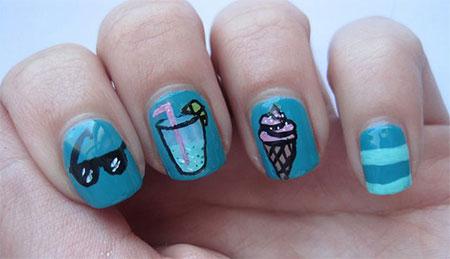 30 cute summer themed nail art designs ideas amp trends