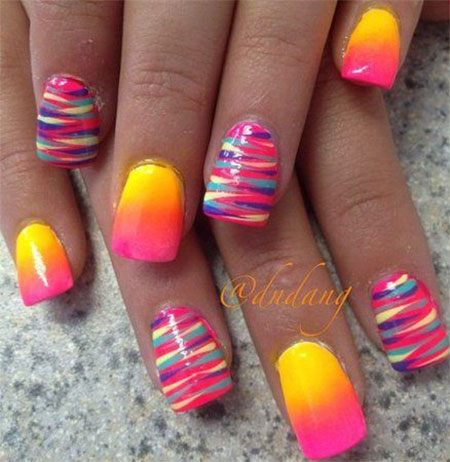 30 Cute Summer Themed Nail Art
