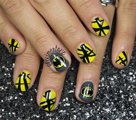 30-Easy-Simple-Batman-Nail-Art-Designs-Ideas- - 30 Easy & Simple Batman Nail Art Designs, Ideas, Trends & Stickers