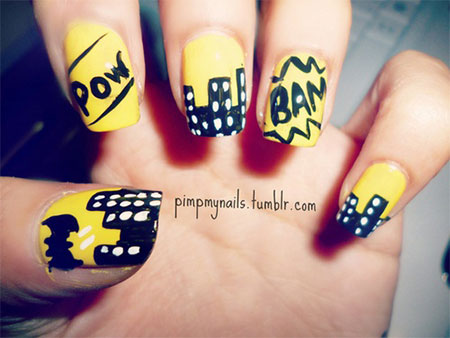 30-Easy-Simple-Batman-Nail-Art-Designs-Ideas-Trends-Stickers-2014-10