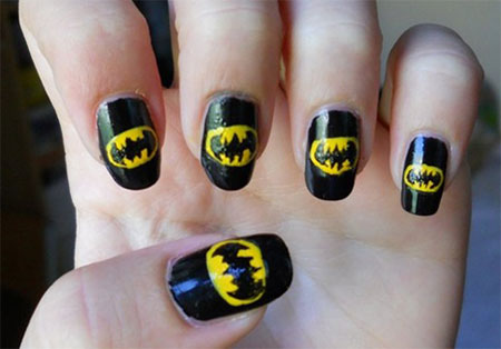 30-Easy-Simple-Batman-Nail-Art-Designs-Ideas-Trends-Stickers-2014-13