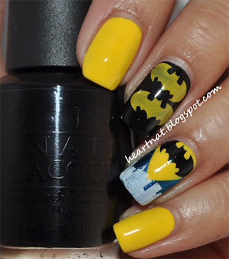 30-Easy-Simple-Batman-Nail-Art-Designs-Ideas-Trends-Stickers-2014-18
