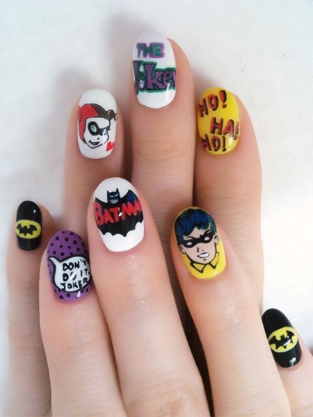 30-Easy-Simple-Batman-Nail-Art-Designs-Ideas-Trends-Stickers-2014-3