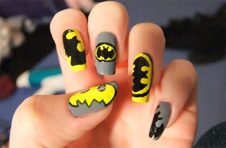 30-Easy-Simple-Batman-Nail-Art-Designs-Ideas-Trends-Stickers-2014-8