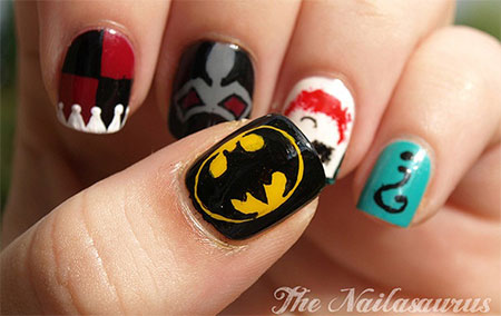 30-Easy-Simple-Batman-Nail-Art-Designs-Ideas-Trends-Stickers-2014-9