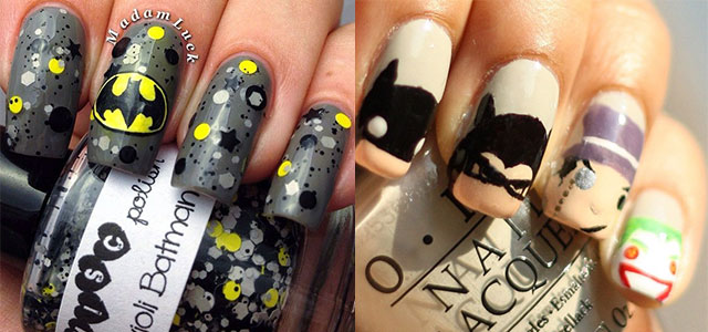 30 Easy & Simple Batman Nail Art Designs, Ideas, Trends & Stickers 2014 |  Fabulous Nail Art Designs - 30 Easy & Simple Batman Nail Art Designs, Ideas, Trends & Stickers