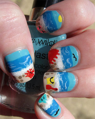 30-Inspiring-Beach-Nail-Art-Designs-Ideas-Trends-Stickers-2014-17