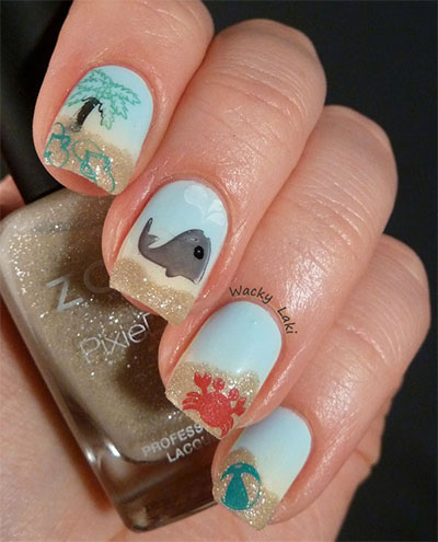 30-Inspiring-Beach-Nail-Art-Designs-Ideas-Trends-Stickers-2014-18
