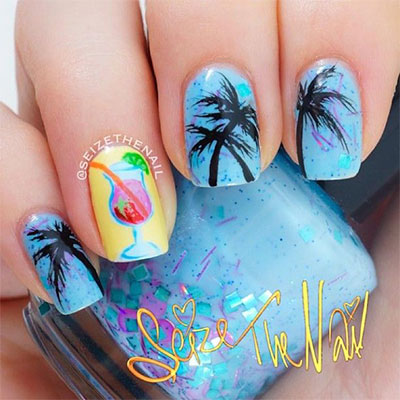 30-Inspiring-Beach-Nail-Art-Designs-Ideas-Trends- - 30 + Inspiring Beach Nail Art Designs, Ideas, Trends & Stickers 2014