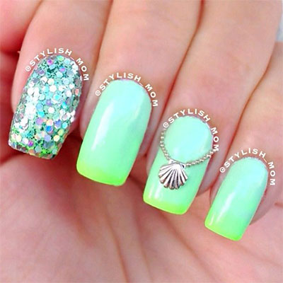 30-Inspiring-Beach-Nail-Art-Designs-Ideas-Trends- - 30 + Inspiring Beach Nail Art Designs, Ideas, Trends & Stickers