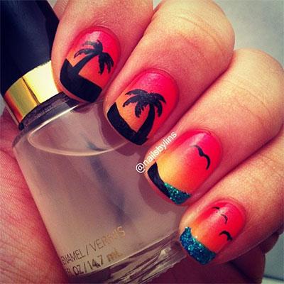 30-Inspiring-Beach-Nail-Art-Designs-Ideas-Trends-Stickers-2014-7