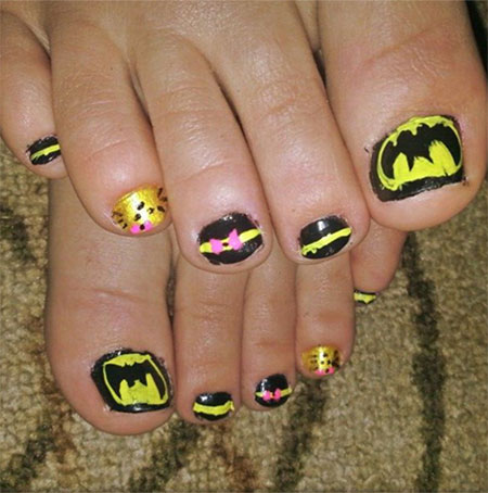 Amazing-Batman-Toe-Nail-Art-Designs-Ideas-Stickers-2014-1