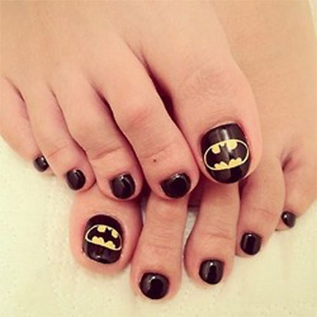 Amazing-Batman-Toe-Nail-Art-Designs-Ideas-Stickers- - Amazing Batman Toe Nail Art Designs, Ideas & Stickers 2014