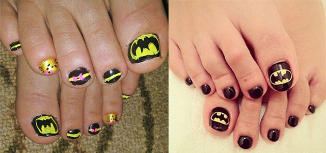 Amazing-Batman-Toe-Nail-Art-Designs-Ideas-Stickers-2014