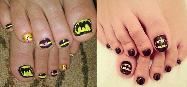 Amazing-Batman-Toe-Nail-Art-Designs-Ideas-Stickers-2014