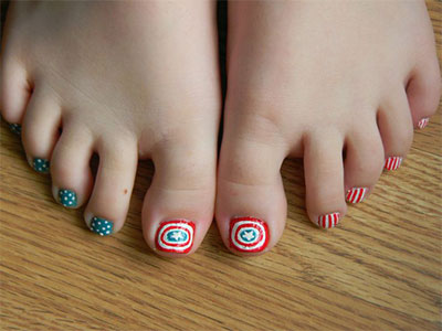 easy avengers toe nail art designs ideas  trends 2014