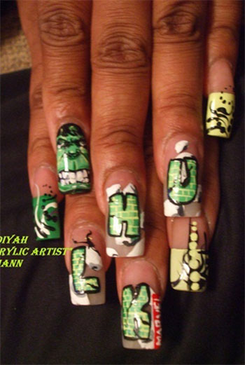 Incredible-Hulk-Nail-Art-Designs-Ideas-Trends-Stickers-2014-Hulk-Nails-2