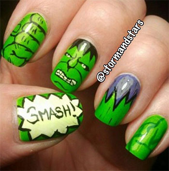 Incredible-Hulk-Nail-Art-Designs-Ideas-Trends-Stickers-2014-Hulk-Nails-3