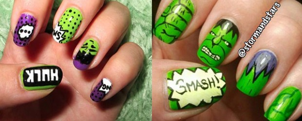 Incredible-Hulk-Nail-Art-Designs-Ideas-Trends-Stickers-2014-Hulk-Nails