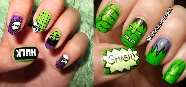 Incredible-Hulk-Nail-Art-Designs-Ideas-Trends-Stickers-2014-Hulk-Nails