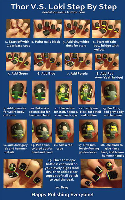 Simple-Step-By-Step-Avengers-Nail-Art-Tutorials-2014-For-Beginners-Learners-1