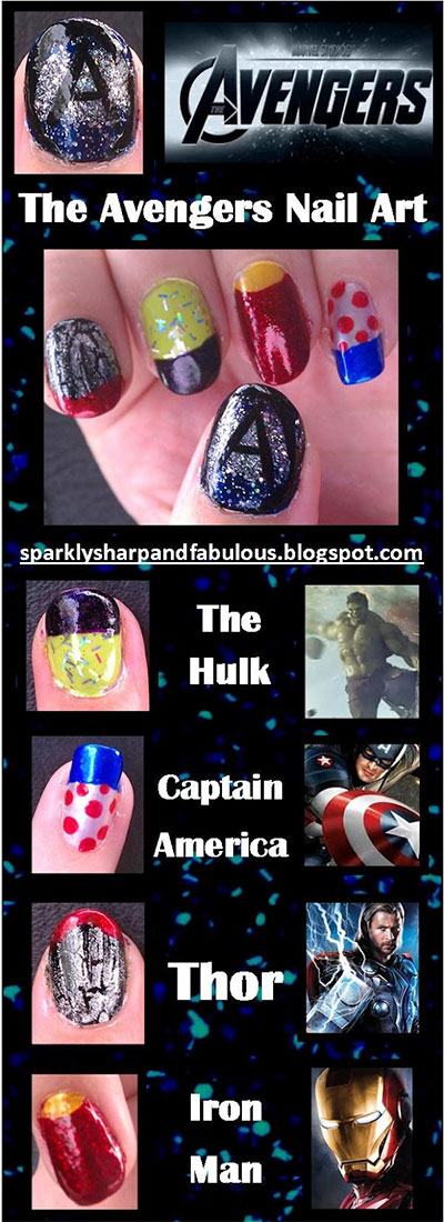 Simple-Step-By-Step-Avengers-Nail-Art-Tutorials-2014-For-Beginners-Learners-2