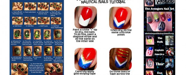 Fabulous nail art designs decor your nails part 54 simple step by step avengers nail art tutorials superheroes prinsesfo Gallery