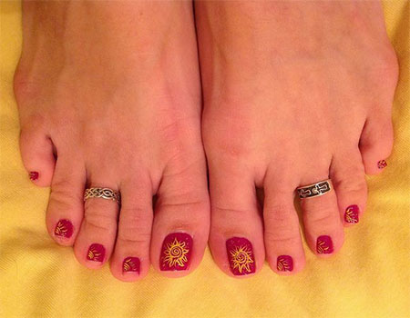 Simple-Summer-Inspired-Toe-Nail-Art-Designs-Ideas-Trends-Stickers-2014-1