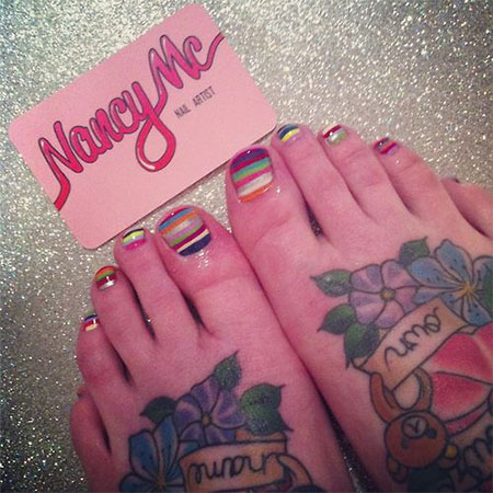 Simple-Summer-Inspired-Toe-Nail-Art-Designs-Ideas-Trends-Stickers-2014-4