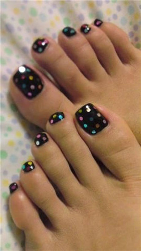 Simple Summer Inspired Toe Nail Art Designs Ideas Trends Amp Stickers 2014 Fabulous Nail Art