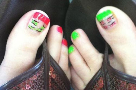 Simple-Summer-Inspired-Toe-Nail-Art-Designs-Ideas-Trends-Stickers-2014-6