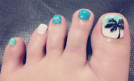 Simple-Summer-Inspired-Toe-Nail-Art-Designs-Ideas-Trends-Stickers-2014-7