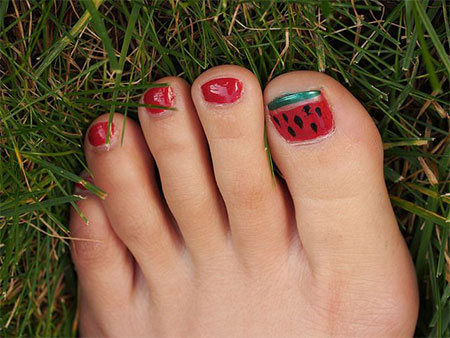 Simple-Summer-Inspired-Toe-Nail-Art-Designs-Ideas-Trends-Stickers-2014-8