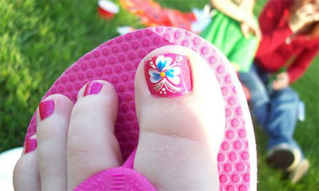 Simple-Summer-Inspired-Toe-Nail-Art-Designs-Ideas-Trends-Stickers-2014-9