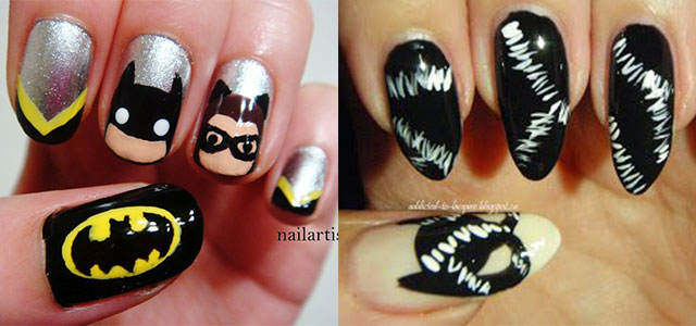 Stunning Catwoman Nail Art Designs Ideas Trends Stickers 2014