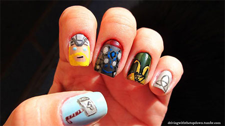 Stunning-Thor-Nail-Art-Designs-Ideas-Trends-Stickers-2014-Thor-Nails-4