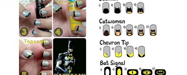 Very-Easy-Step-By-Step-Batman-Nail-Art-Tutorials-For-Beginners-Learners-2014