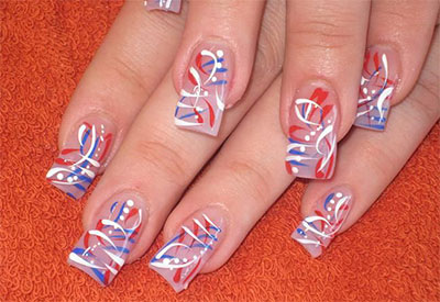 10 Amazing Fourth Of July Acrylic Nail Art Designs Ideas Stickers