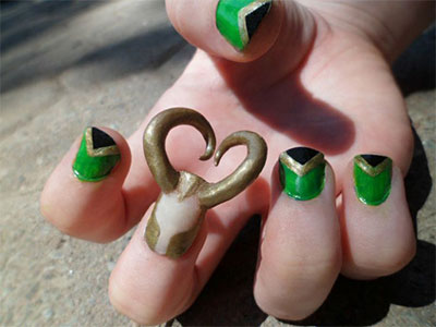 10-Cool-Loki-Nail-Art-Designs-Ideas-Trends-Stickers-2014-9