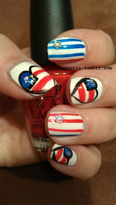 10-Elegant-Fourth-Of-July-Nail-Art-Designs-Ideas-Trends-2014 -4th-Of-July-Nails-10