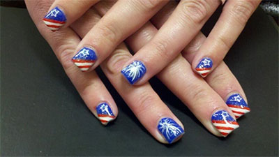 10 elegant fourth of july nail art designs ideas trends 2014 10 elegant fourth of july nail art designs prinsesfo Choice Image