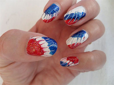 4th Of July Nail Polish Designs Hession Hairdressing
