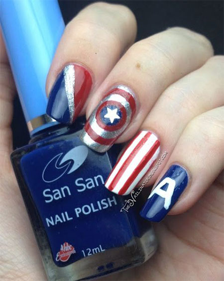 12-Awesome-Captain-America-Nail-Art-Designs-Ideas-Trends-Stickers-2014-10