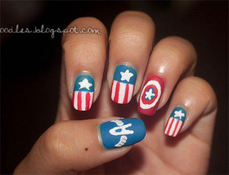 12-Awesome-Captain-America-Nail-Art-Designs-Ideas-Trends-Stickers-2014-3