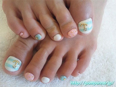 12 Gel Toe Nail Art Designs