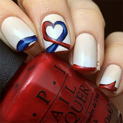 15 easy simple fourth of july nail art designs ideas trends 15 american flag nail art designs ideas trends prinsesfo Gallery