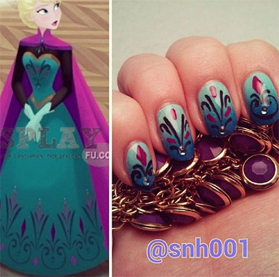 15-Disney-Frozen-Elsa-Nail-Art-Designs-Ideas-Stickers-2014-Elsa-Nails-14