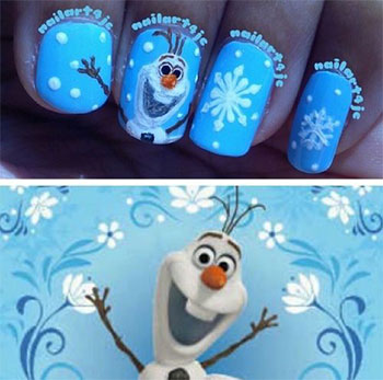 15-Disney-Frozen-Olaf-Nail-Art-Designs-Ideas-Trends-Stickers-2014-Olaf-Nails-1