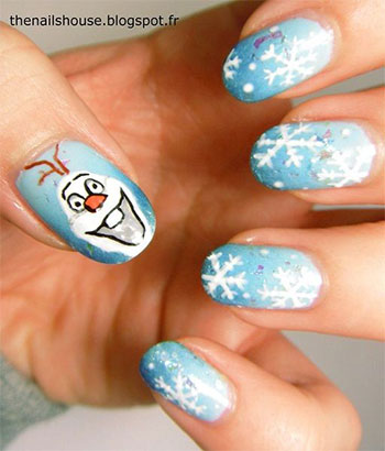 15-Disney-Frozen-Olaf-Nail-Art-Designs-Ideas-Trends-Stickers-2014-Olaf-Nails-12