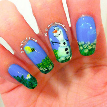 15-Disney-Frozen-Olaf-Nail-Art-Designs-Ideas-Trends-Stickers-2014-Olaf-Nails-13